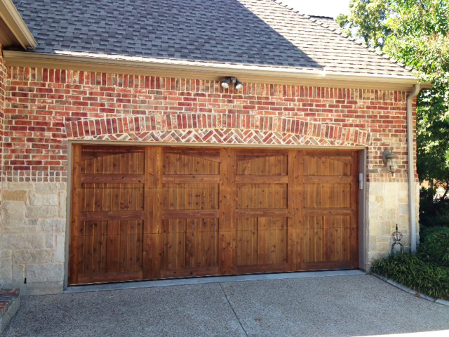 wood garage doors flower mound