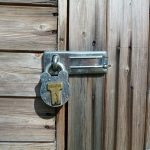 : Garden shed door latch