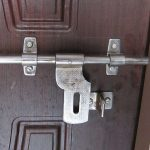 : House door latch